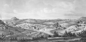 View of Mokelumne Hill, CA, 1857
